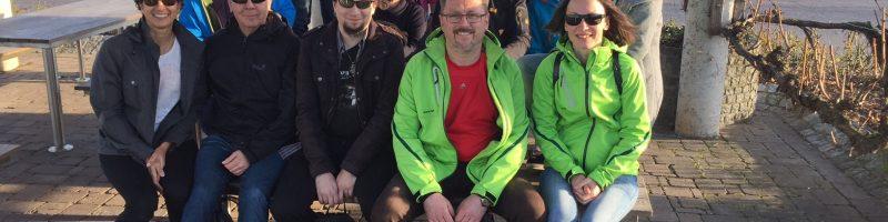 Wein-und Wanderlust: Federballer auf Frühjahrskurs